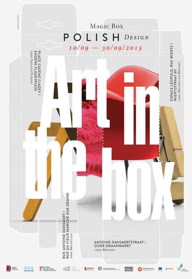 Design poster yourself - Poster Art In The Box By Krzysztof Iwanski Typography