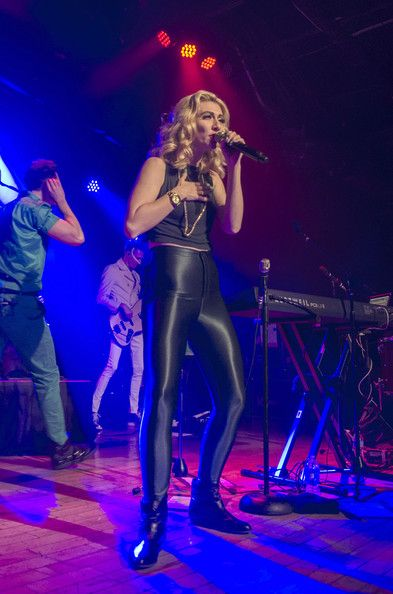 Amy Heidemann of Karmin performs in concert at Baltimore Sound Stage on January 29, 2014 in Baltimore, Maryland.