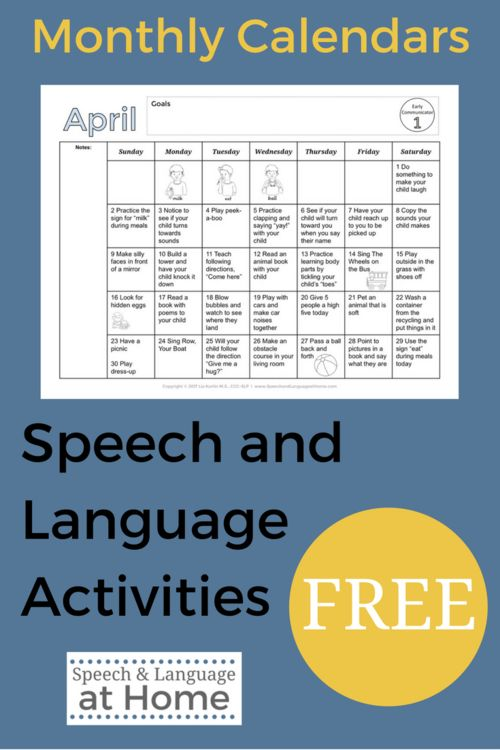 Speech and Language Activities