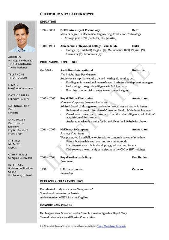 Academic Cv Template Word Download Wpartco Templat Resume Riwayat Hidup Wawancara Kerja