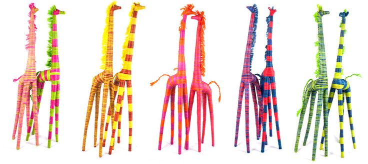 Large Striped Giraffe