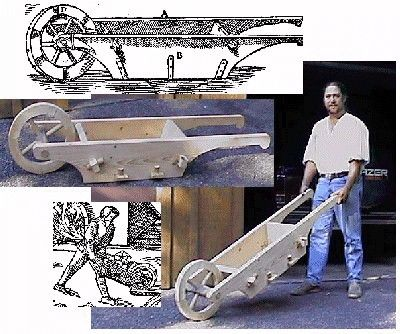 A 16th Century German Wheelbarrow  Aw, yis. Mebbe even flat-pack, looking at those juicy tenons?