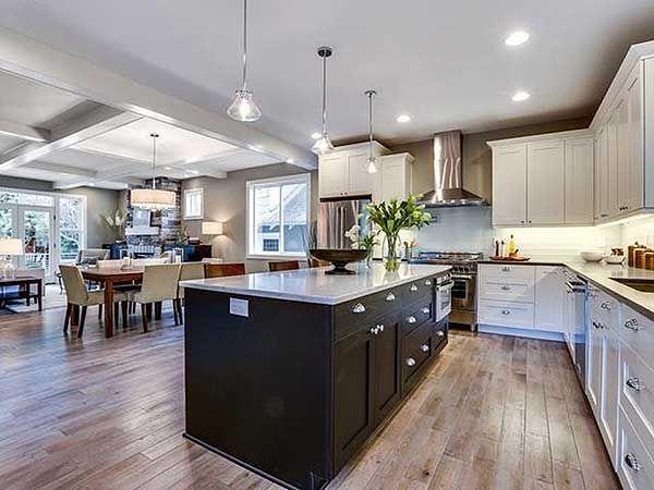Open Concept Floor Plan Inside Narrow Lot House Plan 85091MS Only 26u0027 Wide!  Ready