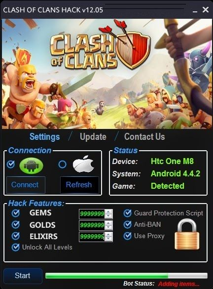 DOWNLOAD Link: http://crazyhotgameparad1se.blogspot.com/2015/10/clash-of-clans-cheat-tool.html  This is the free Clash of Clans Cheat Tool which can generate unlimited Gems, Gold and Elixirs to your account for Free! What are you waiting for? Click and Download for FREE.  Extra Tags: clash of clans cheat tool, unlimited gems for clash of clans, Clash of Clans free cheat tool, clash of clans cheat free download, clash of clans gem cheat, free clash of clans elixir, clash of clans unlimited…
