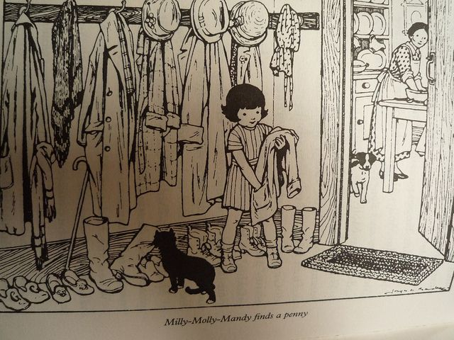 Milly Molly Mandy's coat hooks The Milly-Molly-Mandy Story Book by Joyce L. Brisley: