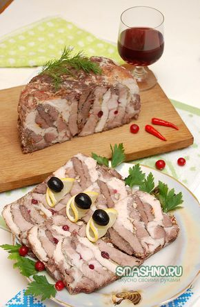 Праздничная мясная закуска