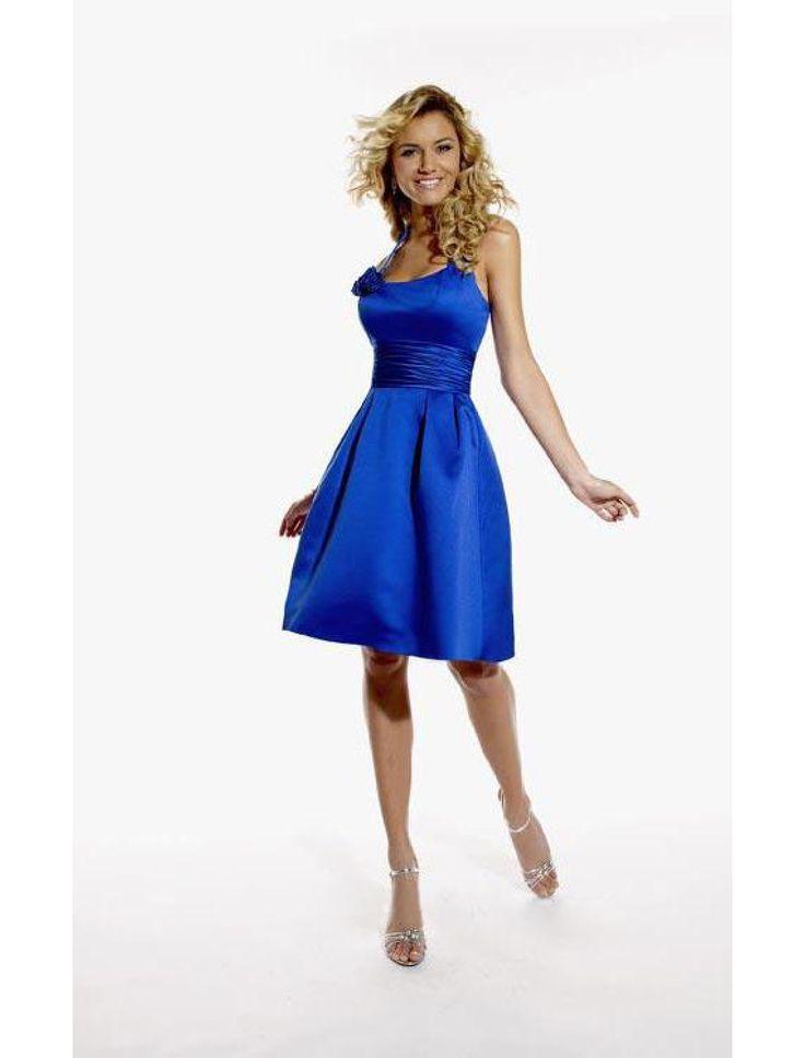 Knielange blaue kleider