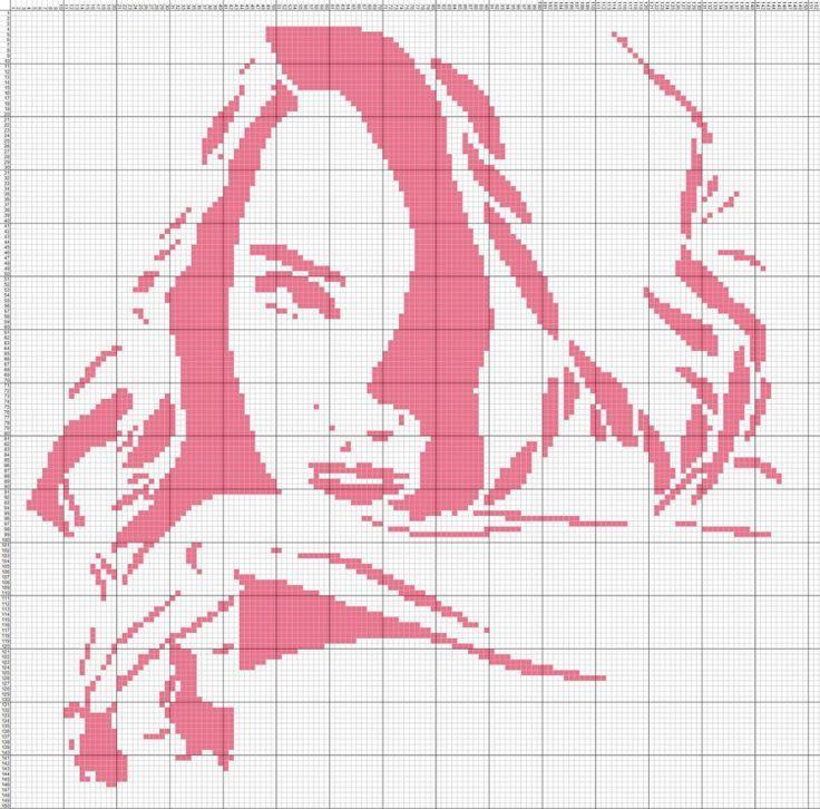 cross stitch portrait girl