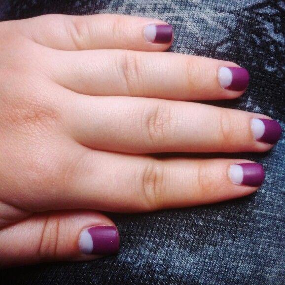 Half circle nail design