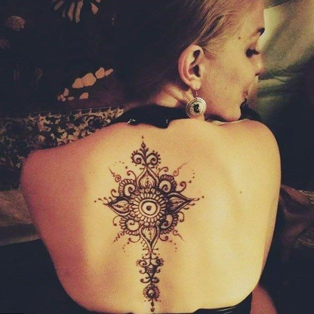 Henna Tattoo Back Spine: Pin On Tattoos