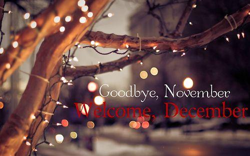 Goodbye November Hello December