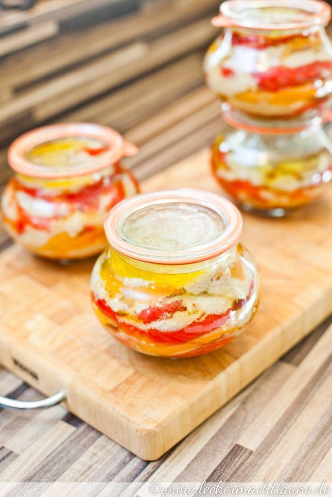 Paprika-Knoblauch-Antipasti {einmachwoche} | lecker macht laune