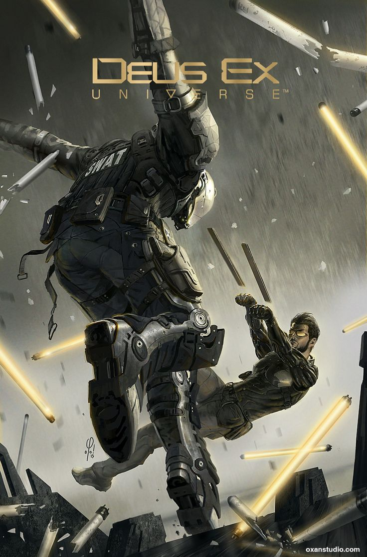 """cyberclays:  Deus Ex Universe - Issue 1 cover art - Children's Crusade - by Yohann Schepacz OXAN STUDIO """"Cover art I did for the first issue of the Deus Ex Universe comic book serie. More info [here]"""""""