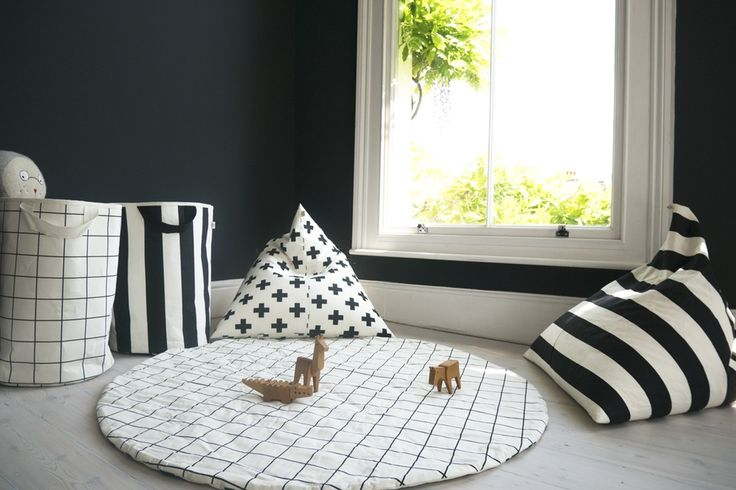 Wildfire Reversible Play Mat with Black and White Cross