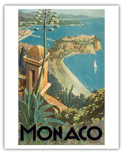 Monaco - Monte Carlo, French Riviera - Vintage World Travel Poster 1930