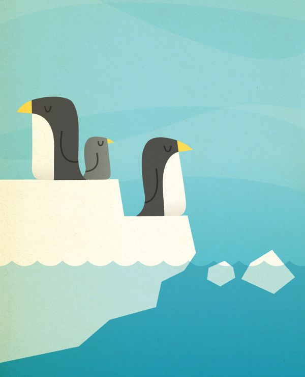 Penguins by Chad Geran, via Behance
