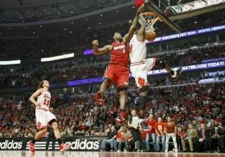Deng dunks on LeBrick