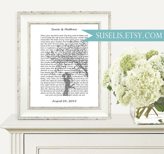 Our song lyrics Song Lyrics Wall Art Gift for her him by Suselis