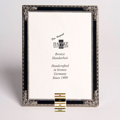 haffke silver enamel picture frame with rose 3 x 5 inch manufacturer sku 438