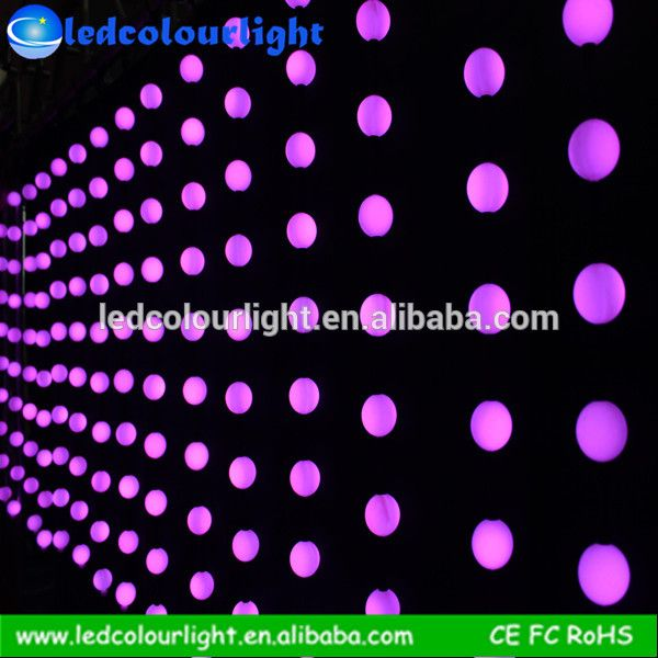 led ball 3D LED pixel Curtain led ball video curtain effect for Christmas, weddig party, homw party