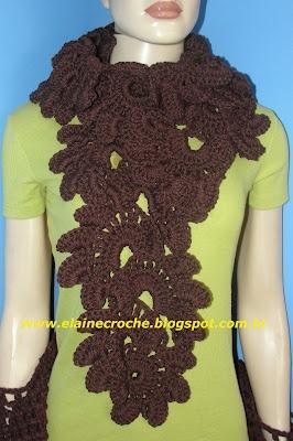 Elaine Croche: Fav Crochet, Croche Etc, Crochet Videos, Crochet Lace, Videos Crochet, Ribbons Crochet, Croche Videos Peças, Crochet Patterns, Crochet Scarfs