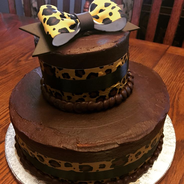 Two Tiered Cake From Sam S Club Cheetah Party Theme
