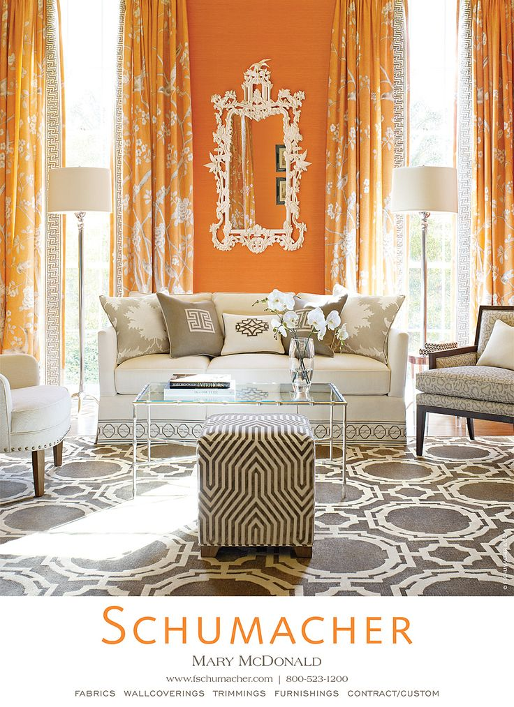 love the neutral furniture in contrast to the bright walls and curtains