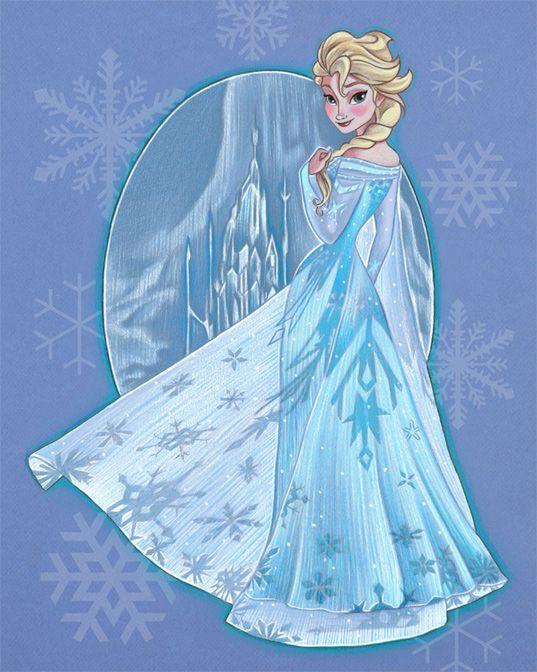 Elsa - by Ben Curtis Jones<br>giclee on canvas