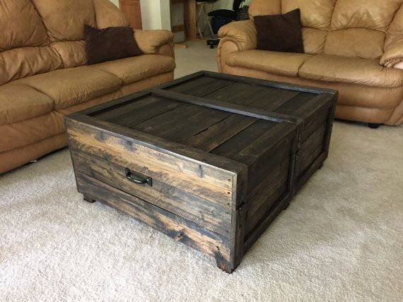 Large Coffee Table Trunk by SilverRiverRustic on Etsy