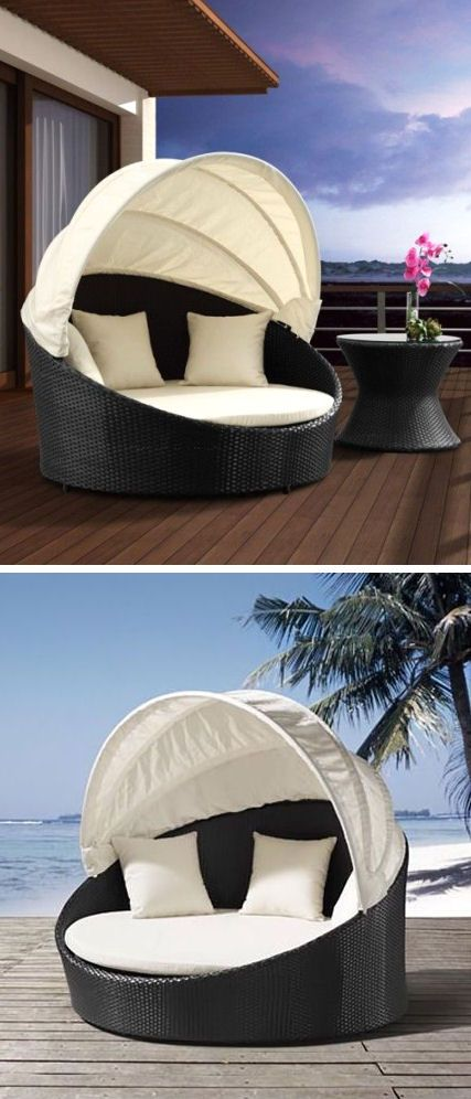 Outdoor Canopy Bed ♥ yes please! This would be nice out back pool-side.