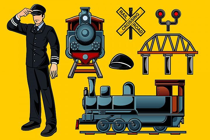Train Driver Vector Pack