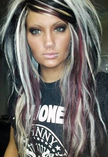 Peachy 1000 Ideas About Black With Blonde Highlights On Pinterest Short Hairstyles Gunalazisus