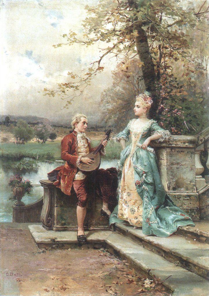 """Cesare Augusto Detti (Italian, 1847-1914), """"THE SERENADE""""♥"""