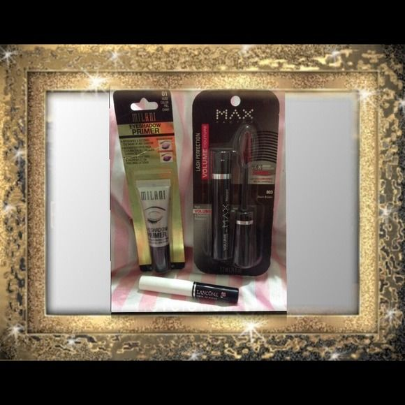 ✨ LOVE THOSE LASHES Bundle ✨ ✨ LOVE THOSE LASHES Bundle ✨ ALL MY MAKE-UP ITEMS ARE BRAND NEW!!! This little Bundle is ALL about pampering & making those Lashes look the BEST they can!!! Included - Lancôme CILS BOOSTER XL (.07 fl oz) Super Enhancing Mascara Base (more info in Pic #4), Max Factor Lash Perfection Volume Couture Mascara - Full Size (in Brown Black) AND as a FREE Gift from Me  a full size - MILANI Eyeshadow Primer. (Total Retail Value $59.00) ✨Save $ with a Bundle.✨ Accessories