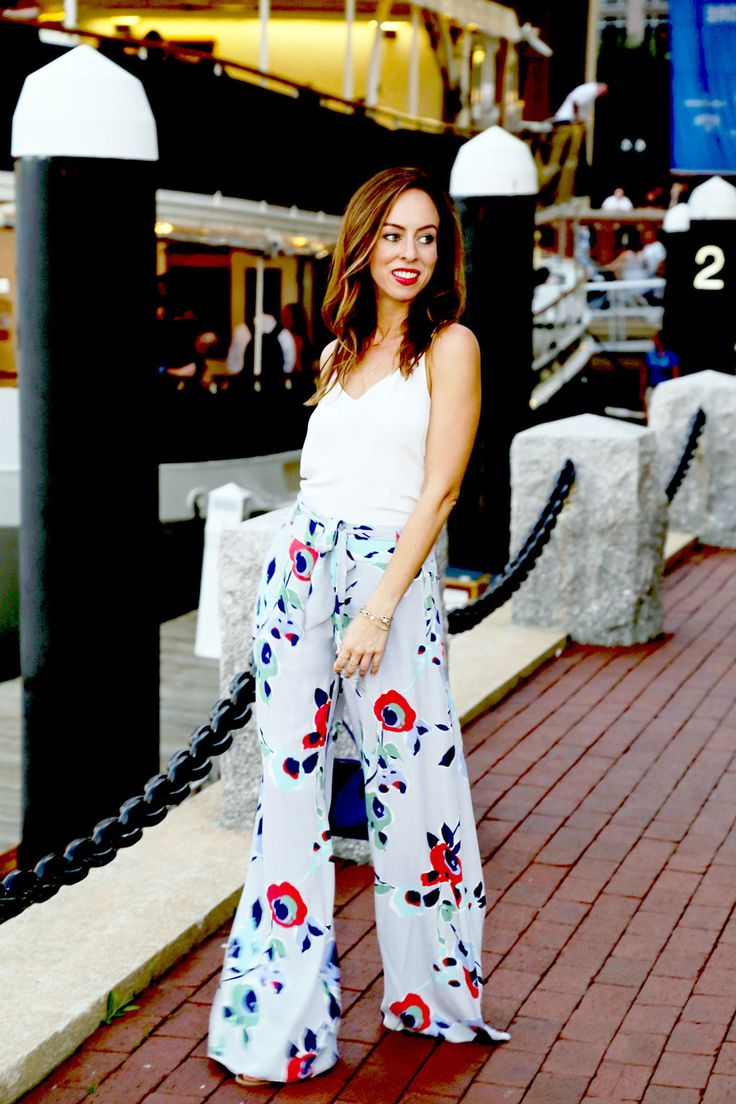 Floral Pants at Rowes Wharf, florals, summer outfit