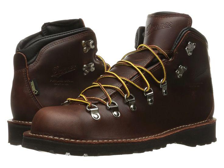 DANNER DANNER - MOUNTAIN PASS (DARK BROWN) MEN'S WORK BOOTS. #danner #shoes #