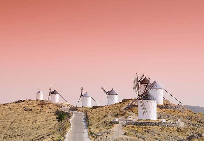 Molinos de viento en Consuegra Castilla la mancha