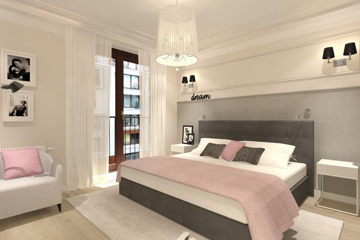 Sypialnia w rużowymy dodatkami