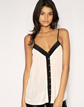 i want thisButtons Camisole, Summer Shirts, Buttons Tanks, Black And White, Asos Buttons, Black White, Black Tanks Tops And Jeans, Summer Tops, Dreams Closets