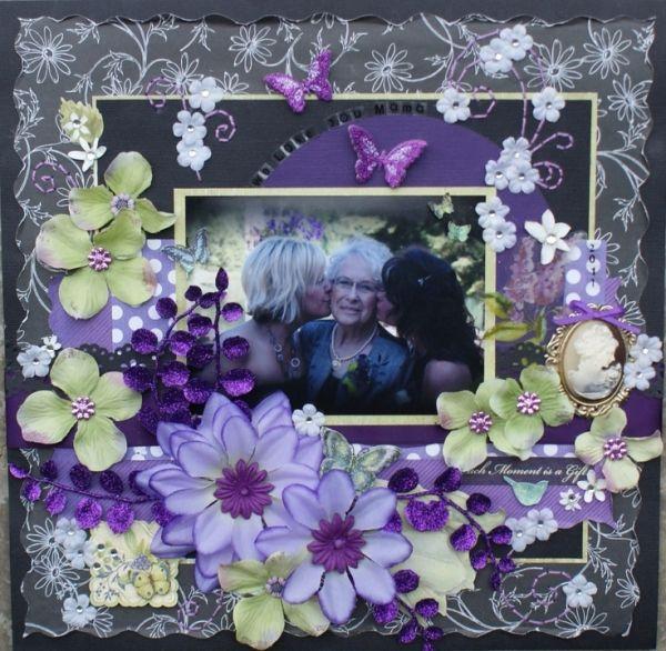 Purple Lavender Violet Pretty Combinationwedding Scrapbook Kits Wedding