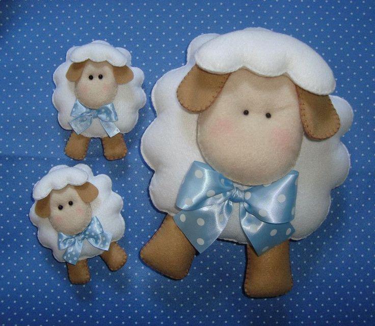 Animales fieltro (oveja)