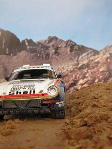 Porsche 959/50 Dakar - diorama