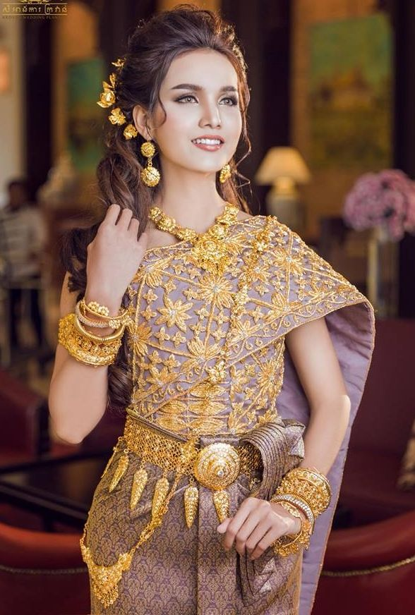 Khmer Wedding Costume Cambodian Wedding Dress Cambodian Dress