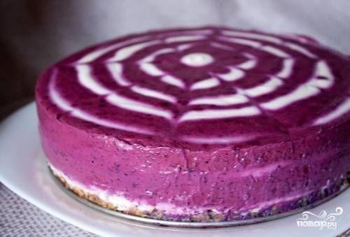 Черничный торт без выпечки - пошаговый рецепт с фото на Повар.ру
