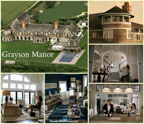 TV series Revenge's Grayson Manor and Poolhouse collage