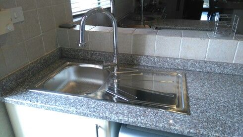 New kitchen sink and mixer installation