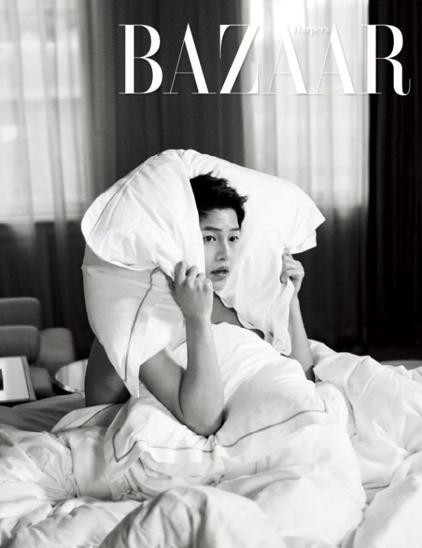 Gird it up ladies ! Harper's Bazaar Korea released a couple of new interior spreads of Song Joong Ki from its May edition! He seems a bit voyeuristic in one shot, and I&#821…
