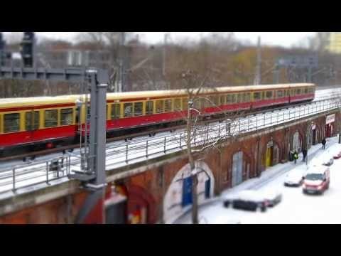 Berlin Zeitraffer im Winter Dezember 2010 HD Timelapse 720p