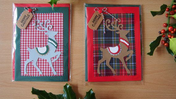 1 x handmade Christmas greeting card topped by LovelyPerfectStyle