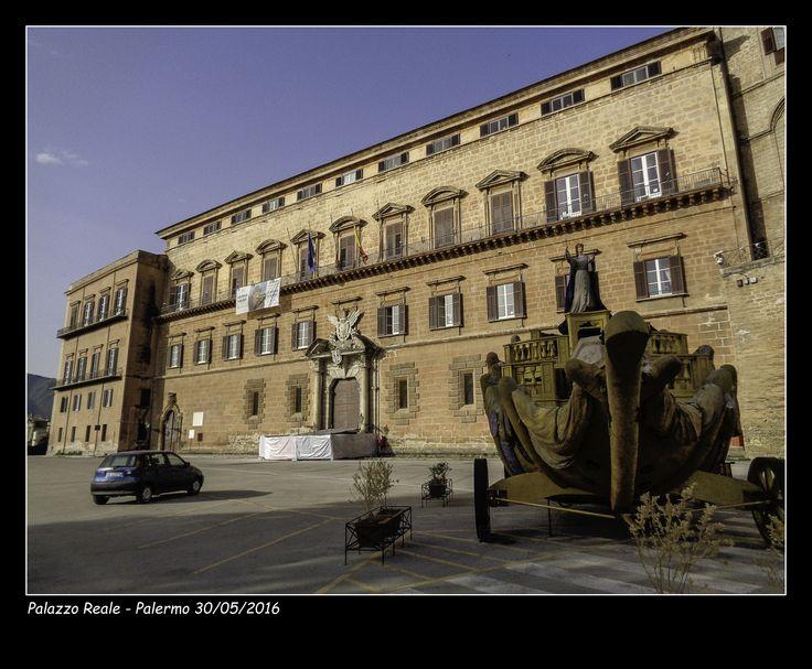 #Palazzo dei Normanni #carro di Santa Rosalia #Palermo #Palazzo Reale